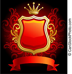 Coat of Arms - Vector illustration - Coat of Arms on red...