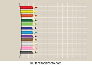 Vector illustration Colored pencils
