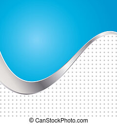 Vector illustration colorful abstract background. Trendy blue wave with metal frame.