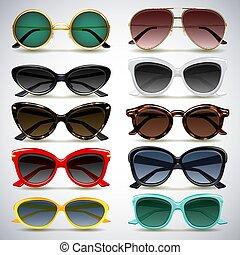 sunglasses - Vector illustration - colorful sunglasses icons...