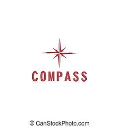 vector illustration compass icon flat design
