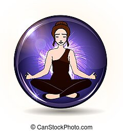 Aura and chakra, meditation.