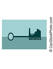 vector illustration concept of a key  business