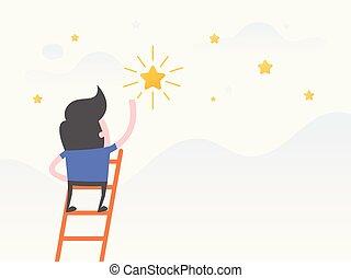 dreams, - Vector illustration concept of dreams, Goals,...
