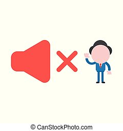 Vector illustration concept of faceless businessman...