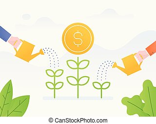 investment. - Vector illustration concept of investment....