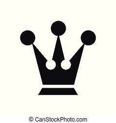 Vector illustration concept of King crown. Icon on white background