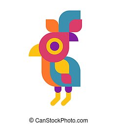 Vector illustration concept of parrot bird logo. Colorful icon on white background