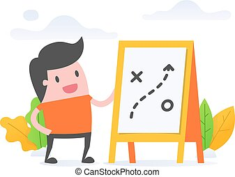 planning - Vector illustration concept of planning. young...