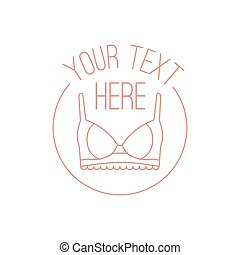 Vector illustration concept of woman lingerie logo. Icon on white background