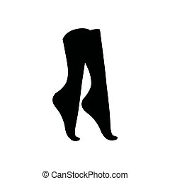 Vector illustration concept of Women socks silhouette. Icon on white background