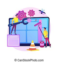 vector, illustration., concept, website, abstract, onderhoud