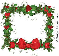 Vector illustration contains the image of Christmas frame