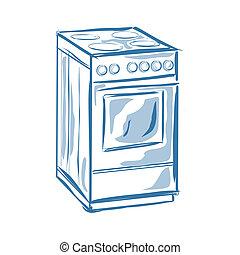Cooker - Vector illustration : Cooker on a white background.