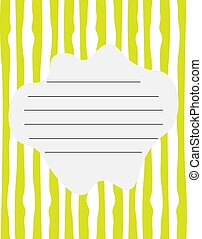 Cover for a school notebook with a place for text. Strips