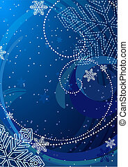 vector illustration - crystal snowflake