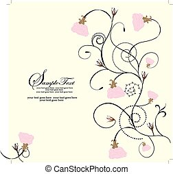 Vector illustration, cute floral background