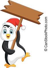 cute penguin christmas cartoon
