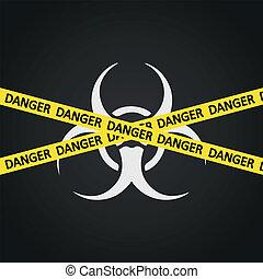 Vector illustration danger tape biohazard