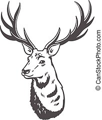 Vector illustration. Deer.