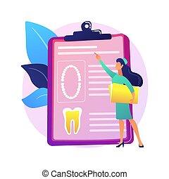 vector, illustration., dentaal, concept, kaart, abstract, patiënt