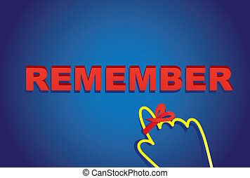 remember - Vector illustration design ,remember letters with...