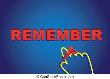 Vector illustration design ,remember letters with cursor