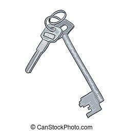 Vector illustration digital painting of keys