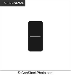 Vector illustration. Domino black icons on white background.