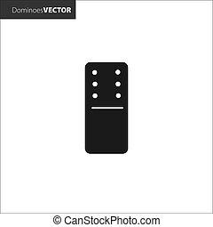 Vector illustration. Domino black icons on white background.