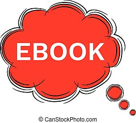 Vector Illustration Doodle of speech bubble EBOOK. EPS8 .
