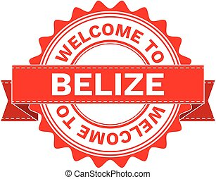 Vector Illustration Doodle of WELCOME TO COUNTRY BELIZE . EPS8 .