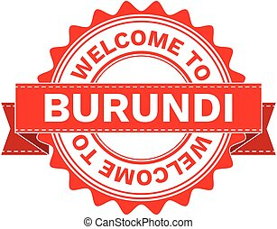 Vector Illustration Doodle of WELCOME TO COUNTRY BURUNDI