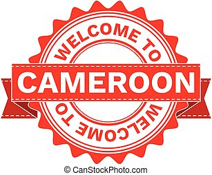 Vector Illustration Doodle of WELCOME TO COUNTRY CAMEROON . EPS8 .