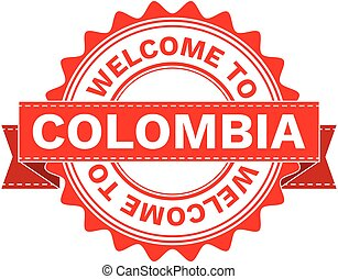 Vector Illustration Doodle of WELCOME TO COUNTRY COLOMBIA . EPS8 .