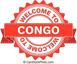 Vector Illustration Doodle of WELCOME TO COUNTRY CONGO . EPS8 .