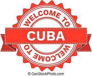 Vector Illustration Doodle of WELCOME TO COUNTRY CUBA