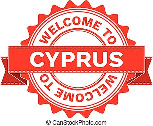 Vector Illustration Doodle of WELCOME TO COUNTRY CYPRUS . EPS8 .