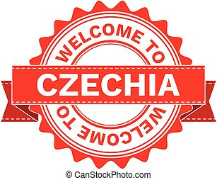 Vector Illustration Doodle of WELCOME TO COUNTRY CZECHIA