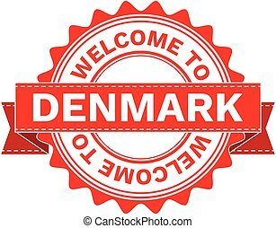 Vector Illustration Doodle of WELCOME TO COUNTRY DENMARK