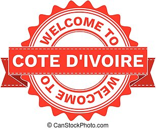 Vector Illustration Doodle of WELCOME TO COUNTRY DIVOIRE