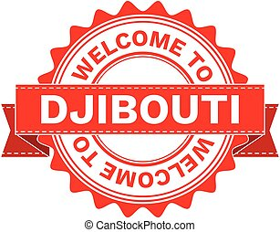 Vector Illustration Doodle of WELCOME TO COUNTRY DJIBOUTI