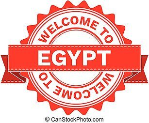 Vector Illustration Doodle of WELCOME TO COUNTRY EGYPT