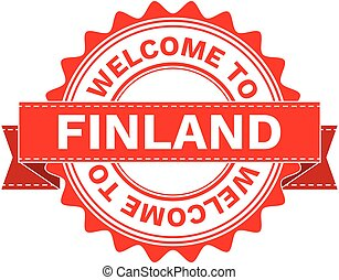 Vector Illustration Doodle of WELCOME TO COUNTRY FINLAND