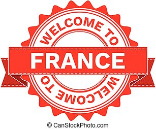 Vector Illustration Doodle of WELCOME TO COUNTRY FRANCE