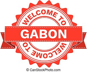 Vector Illustration Doodle of WELCOME TO COUNTRY GABON . EPS8 .