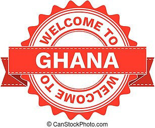 Vector Illustration Doodle of WELCOME TO COUNTRY GHANA