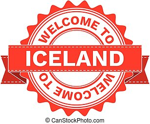 Vector Illustration Doodle of WELCOME TO COUNTRY ICELAND. EPS8 .