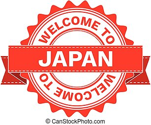 Vector Illustration Doodle of WELCOME TO COUNTRY JAPAN. EPS8 .