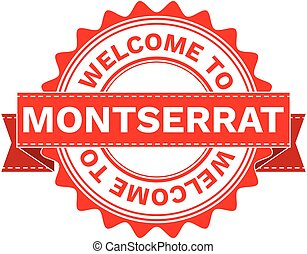 Vector Illustration Doodle of WELCOME TO COUNTRY MONTSERRAT . EPS8 .